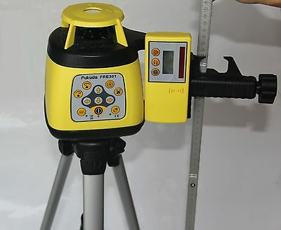Automatic Rotary laser level 301 with tripod and 2m stave