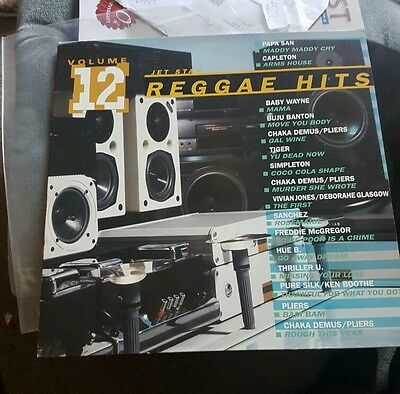 Reggae-Jet Star Reggae Hits Jelp1012 Volume 12-Uk Lp-Vg-1992-Various