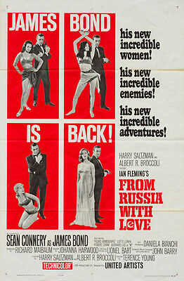 From Russia With Love, US 1 sheet, Film/ Movie poster, James Bond