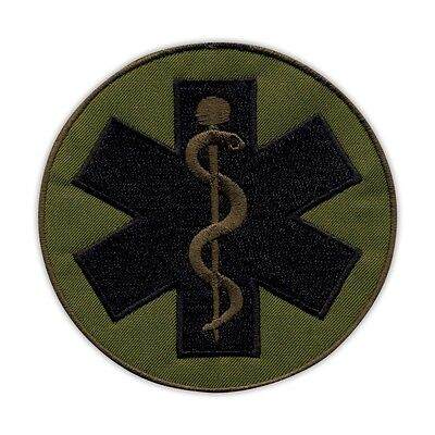 Olive Rod of Asclepius on the back-big PATCH/BADGE