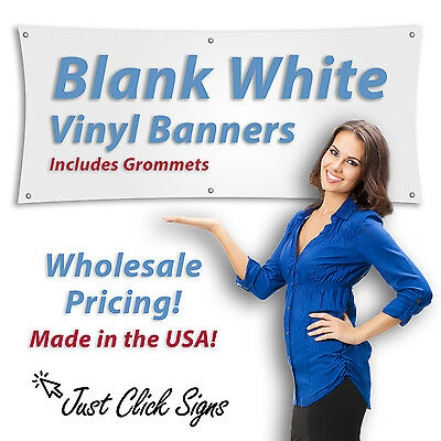 2x6 Blank Vinyl Banner, Heavy 13oz, White Grommets Shipped Rolled FAST SHIPPING