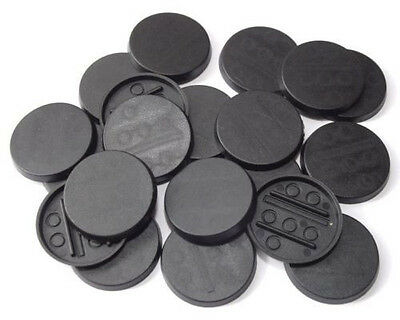 50 (Fifty) 30mm Round Bases for Wargaming and Roleplaying NEW