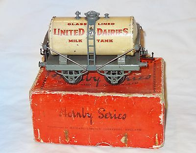 090:Boxed Original  (1929-30)  Hornby O Gauge United Dairies Tank Wagon