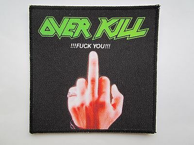 OVERKILL printed NEW patch thrash metal