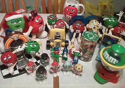 M&M Collectible Lot - Dispensers - Mug - Plush Figures