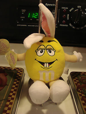 """Nwt 9"""" Yellow M & M Plush Toy Bunny Ears Easter"""