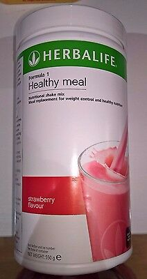 HERBALIFE 550g FORMULA 1 HEALTHY MEAL STRAWBERRY SHAKE MIX FOOD SUPPLEMENT DIET