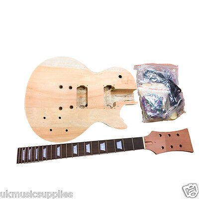 LP x 3 types BYO Pre-drilled Student & Luthier Electric Guitar DIY KITS HY-76