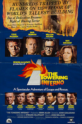 The Towering Inferno, US 1 sheet, Film/Movie poster, Rare Christmas advance 1974