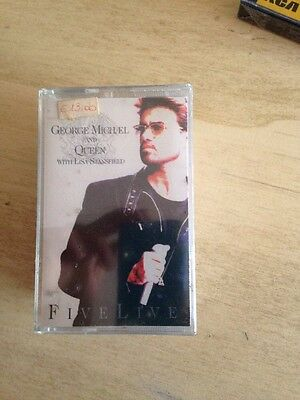 George Michael And Queen Five Live MC Cassette Tape  Sigillata Sealed