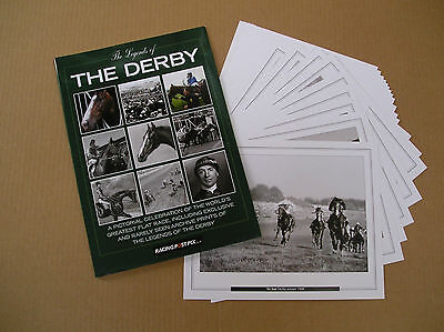 The Epsom Derby Legends Portfolio containing 20 A4 Prints