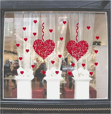 Vinyl Sticker Decal Love Heart Valentines Day Shop Window Wall Art