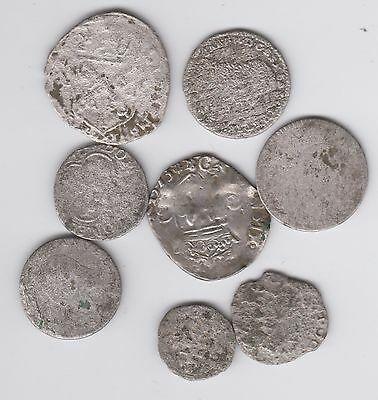 EUROPE lot 8pcs silver coins, mainly FRANCE (L835)