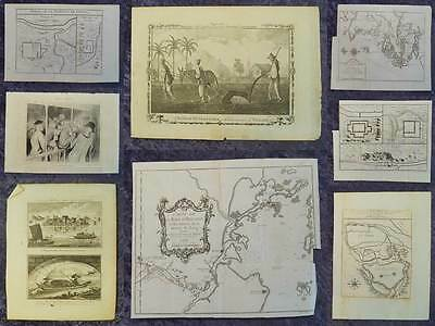 Collection 8 Original Asia Maps Engraving Maps & Views 18./19. Century #b600