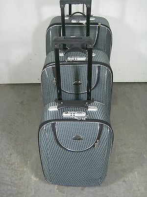 MKM 3 Piece Luggage Set, Ultra-Light, Black, Red or Blue, New