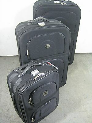 "ArtLand Travel 3 piece Luggage Set, 31"", 28"" and 20""inch, Black , New"