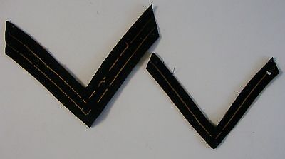 Vintage Lot Of 2 WWII ORIGINAL MILITARY US CHEVRON PATCHES