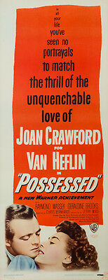 Possessed, US Insert, Film/ Movie poster, 1947