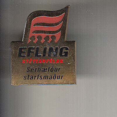 Efling General Workers Version Two Trade Union Badge
