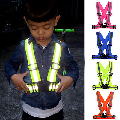 New Kids Children Cycling Safety Reflective Vest Stripes Jacket Gift Accessories