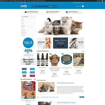 Cat Supplies - Established Automated eCommerce Website