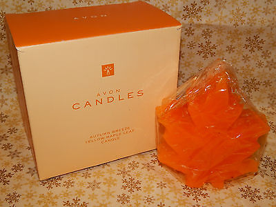 Vintage Avon Fall Candle Maple Leaf New #089