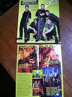 Footloose ad/flyer Broadway NYC musical Richard Rodgers Theatre RARE