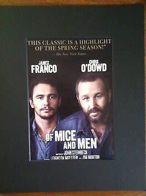 Of  Mice and  Men  play  2014 ad/flyer  matted  Broadway NYC James Franco