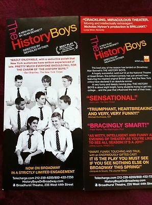 the History Boys ad/flyer Best Play Broadway NYC  James Corden Russell Tovey