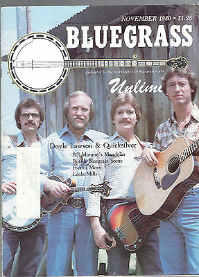 Lot Of 2-1978-1980 Bluegrass Unlimited Magazines-Music-Doyle Lawson &quicksilver