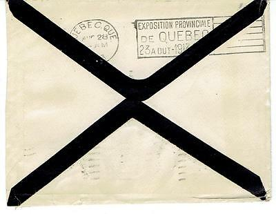 1913 Quebec, Que. Provincial Exposition Slogan on Montreal Mourning Cover