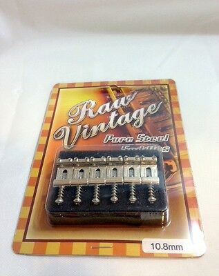 Raw Vintage Strat Saddles 10.8mm fender import