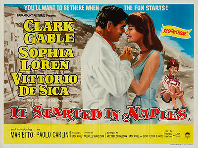 It Started In Naples, UK Quad, Film/ Movie poster, 1960 (Cable & Loren)