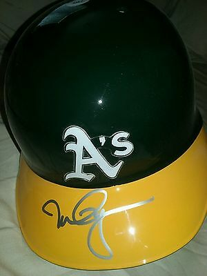 Mark McGwire Signed Oakland A's Authentic Batting Helmet - Silver Paint Pen