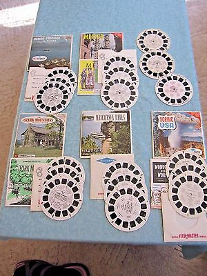 6 Vintage Viewmaster reels LOT COMPLETE SETS Alaska Mexico Wis Dells Scenic USA