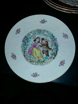 royal doulton valentines day 1977 plate