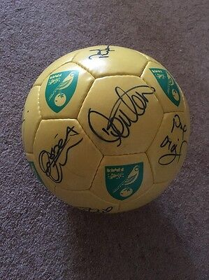 Norwich City Signed Football 13 Autographs