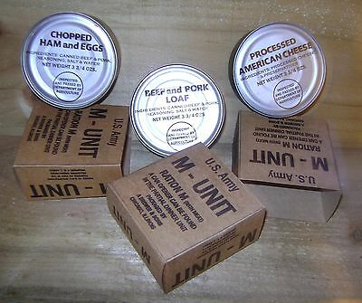 WW2 US Army M ration cans x 3, repro
