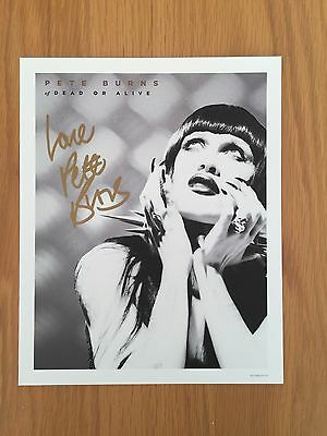 Pete Burns Dead Or Alive Signed Print From Sophisticated Boom Box Mint Condition