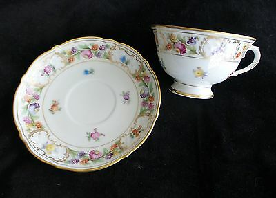 Vintage Schumann Empress Dresden Flowers Cup And Saucer #1 Germany