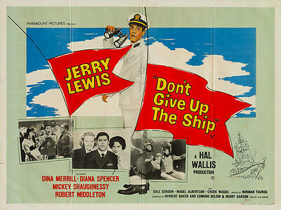 Don't Give Up the Ship, UK Quad, Film/ Movie poster, 1959 Jerry Lewis
