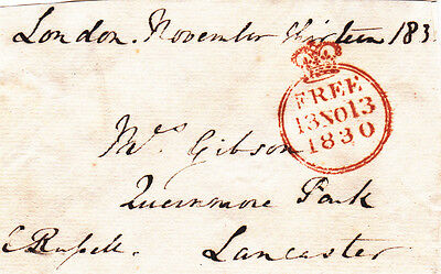 Charles Russell **signed Free Front, Mp & Chairman, Great Western Railway (1830)