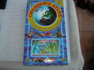 Childrens Blow Up Atlas And 64 Page Book Age 3+ Must L@@k