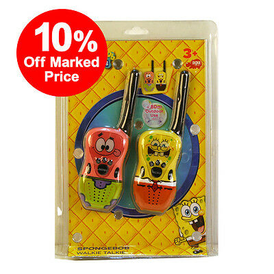 SpongeBob SquarePants Kids Toy Radio Walkie Talkies - 80M Range - 10% OFF!