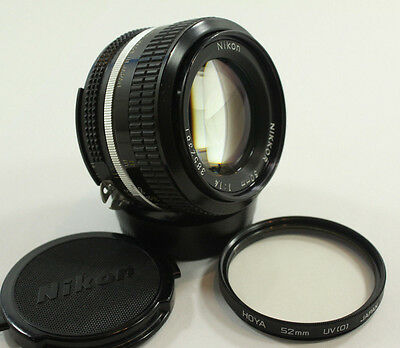 Vintage Nikon Nikkor 1:1.4 50mm Camera Lens F Mount AI Fast Prime Manual Focus