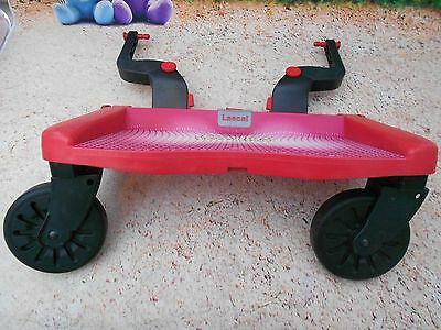 Lascal Buggyboard Maxi - In Red, Great Clean Condition