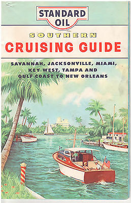 Standard Oil Cruising Guide 1964 Savannah To Miami & New Orleans Southern Route