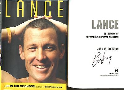 CYCLING GREAT LANCE ARMSTRONG signed 2009 lstED LANCE hardcover book