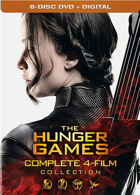 Hunger Games: Complete 4 Film Collection - 8 DISC SET (2016, DVD NUOV (REGIONE )