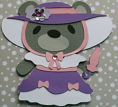 4  Brand New Beautiful Hand Made Prom Bears for card Toppers/Invites 07